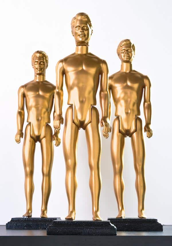 DIY Oscars from Ken dolls