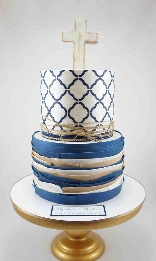 Gâteaux de baptême élégants pour garçons