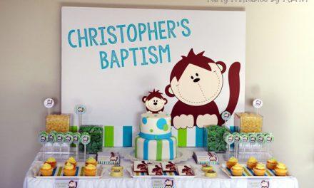 Baptême sur le thème des singes