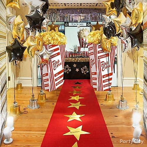 tapis rouge theme bapteme