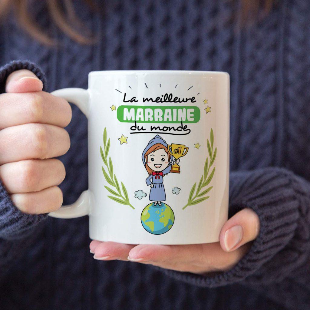 cadeau marraine mug